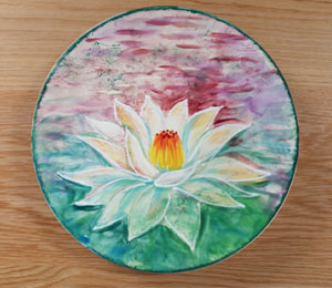 Camp Hill Lotus Flower Plate