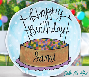 Camp Hill Birthday Plate