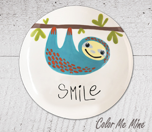 Camp Hill Sloth Smile Plate