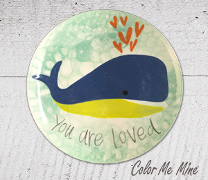 Camp Hill Whale Love Plate